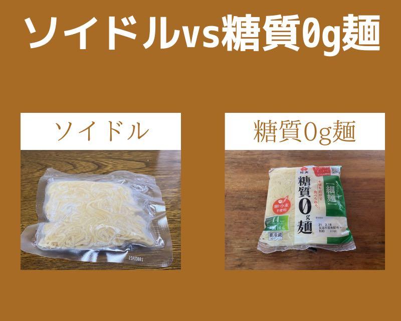 ソイドルと糖質0g麺
