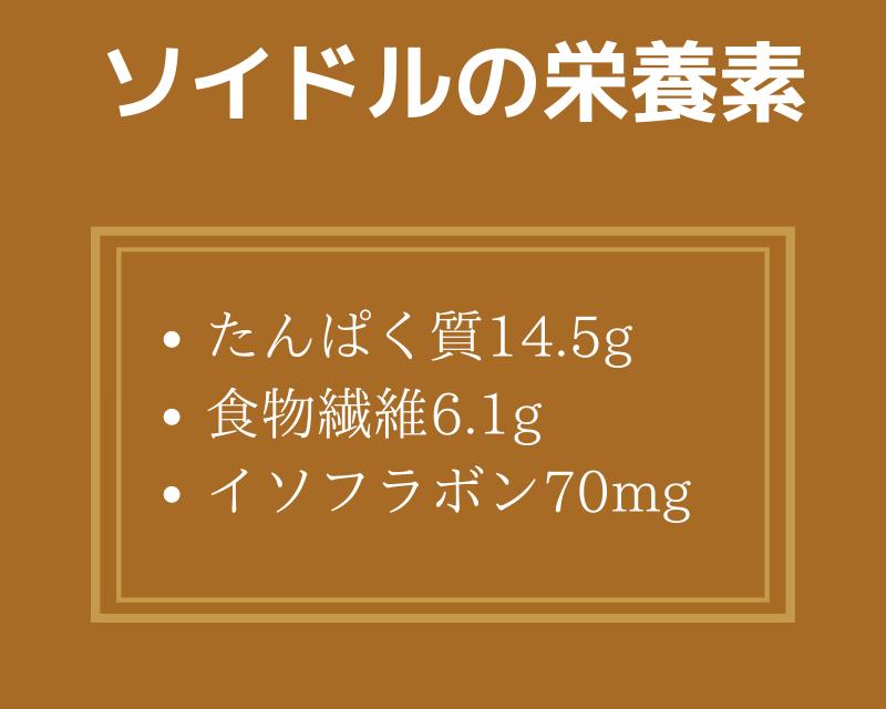 ソイドルの栄養素