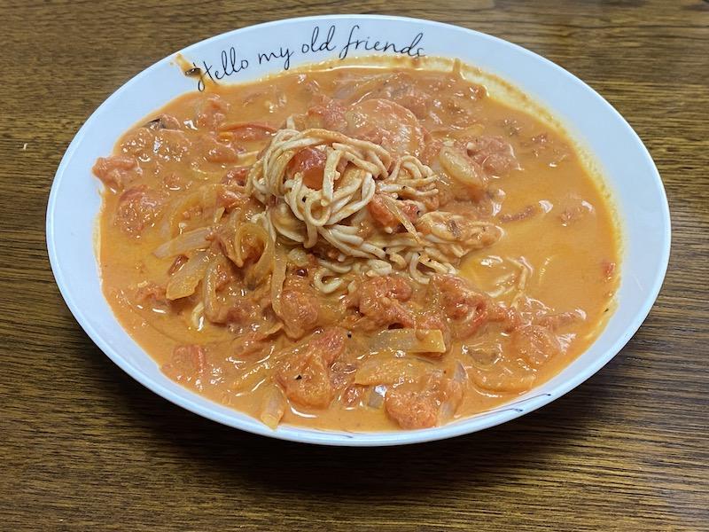 ソイドルトマトクリームパスタのレシピ